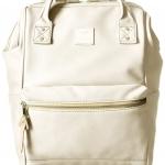 กระเป๋าเป้ Anello Leather ivory (Mini)