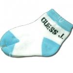 ถุงเท้า สีขาว-ฟ้า ลาย Guess J. 9CM