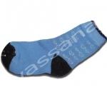 ถุงเท้า สีฟ้า-ดำ ลายหัวใจ 12CM