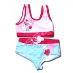 ชุดว่ายน้ำ สีชมพู-แดง-ฟ้า ลาย Aloha Diddlina 10T