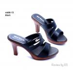 รองเท้าแฟชั่นส้นสูง สไตล์สวม เรียบหรู วัสดุเป็นหนังพียูอย่างดี คาดหน้า ดีไซน์เก๋ๆ ติดอะไลห่จรเข้สีทอง ส้นไม้เทียมสูง 3.5 นิ้ว สวยหรู ทรงรับเท้า ได้ดี สวมใส่กระชับเท้ามาก งานสวยเป๊ะ