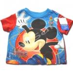 เสื้อ สีฟ้า-แดง ลาย Mickey Mouse 18M