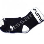 ถุงเท้า สีดำ-ขาว ลาย Puma 12CM