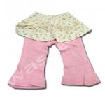 กางเกงลองจอน สีน้ำตาล-ชมพู ลายดอกกุหลาบ ยี่ห้อ Motherways S90