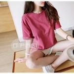 [พรีออเดอร์] เสื้้อยืดแฟชั่นเกาหลีใหม่ แขนสั้น สำหรับผู้หญิงไซส์ใหญ่ - [Preorder] New Korean Fashion T-Shirt Short-Sleeved for Large Size Woman