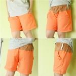 กางเกงคลุมท้อง ปรับระดับ ขาสั้น สีส้ม