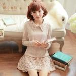 [พรีออเดอร์] เสื้อเดรสแฟชั่นเกาหลี แบรนด์ Kaven Dream size XS - XL สวยหวาน แขนยาว - [Preorder] Women Korean Hitz Kaven Dream Brand Size XS - XL Sweet Long-Sleeved Dress