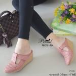 รองเท้าคัทชูเปิดส้น ส้นเตารีด สวยน่ารัก วัสดุหนังฉลุลาย เดินเส้นฝีเข็มสุดเนี๊ยบ ดีเทลหน้าคาดปรับระดับได้แบบเมจิกเทป พื้นส้นพียู น้ำหนักเบา สวมสบาย หนัง นิ่ม แมทง่าย งานดี สูง 2 นิ้ว