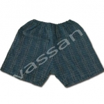 กางเกงจิมเบอิ สีน้ำเงิน ลายตาราง S100