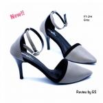รองเท้าคัทชู ส้นสูง สไตล์รัดข้อเท้า สวยเก๋ งานหนังพียูตัดขอบด้วยผ้า สักหลาด ดีไซน์ทรงหัวแหลม ส้นเข็มสูง 3 นิ้ว มีสายรัดข้อเท้าแบบเกี่ยว ปรับระดับได้ งานสวยเป๊ะ แมทเก๋ได้ทุกชุด สีดำ ครีม เทา ชมพู