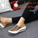 รองเท้าผ้าใบ สไตล์สุขภาพ รุ่น hot hit แบบยางยืดคุณภาพสานอย่างดี ใส่กระชับเท้า เสริมพื้นหนา 2 นิ้ว พื้นยางกันลื่นอย่างดี นิ่ม น้ำหนักเบา ใส่สบายเท้าสุดๆ เหมาะกับทุกวัย สวมใส่ไดตลอดไม่มีเอาท์