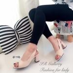 รองเท้าคัทชู สวยคลาสสิค วัสดุหนังนิ่มแบบสวมเปิดหน้าเท้า สายรัดส้นแต่ง โบว์ด้านหลังน่ารัก เป็นยางยืดกระชับเท้า ส้นสูง 2.5 นิ้ว ใส่แล้วมีความสวย โดดเด่น แมทได้ทุกชุด สีดำ ครีม (87-195)