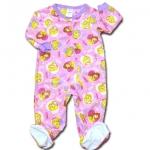 ชุดบอดี้สูทถุงเท้า สีชมพู ลาย Princess Size 3T