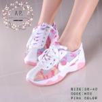 รองเท้าผ้าใบ style korea ด้านข้างติดโลโก้ไนกี้ สวยเท่ห์ เพิ่มความหวาน ด้วย ผ้ากราฟฟิกทหารสีพาสเทล ฟ้า และชมพู สดใส น่ารักๆ ใส่ชิว ใส่เที่ยว หรืออกกำลังกายก็ได้ค่ะ