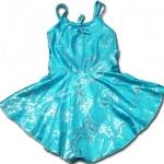 ชุดว่ายน้ำ สีฟ้า ลายดอกไม้ 4T