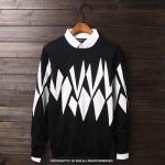 พรีออเดอร์ เสื้อกันหนาว แฟชั่นเกาหลีสำหรับผู้ชายไซส์ใหญ่ อก 62.99 นิ้ว แขนยาว เก๋ เท่ห์ - Preorder Large Size Men Korean Hitz Long-sleeved Sweater