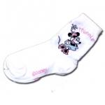 ถุงเท้า สีขาว ลาย Minnie Mouse 17CM