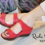 รองเท้าแฟชั่น ส้นเตารีดลำลอง แบบสวมคาด 2 ตอน เรียบเก๋ ใส่กระชับ พื้นนิ่ม สูง 2.5 นิ้ว ใส่สบาย แมทได้ทุกชุด สีดำ น้ำตาล เขียว แดง