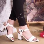 รองเท้าส้นสูง ZARA Style Collection รัดข้อเท้า สายปรับกระชับเท้าได้ ทรงสวมเปิดหน้า เรียบหรู ใส่สบายเท้า วัสดุหนังอย่างดี หนังนิ่ม แมทกับ ชุดได้ง่าย สวยลงตัว สายรัดข้อเท้าปรับกระชับเท้าได้ สูง 2.5 นิ้ว