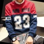 พรีออเดอร์ เสื้อกันหนาว แฟชั่นเกาหลีสำหรับผู้ชายไซส์ใหญ่ อก 61 นิ้ว แขนยาว เก๋ เท่ห์ - Preorder Large Size Men Korean Hitz Long-sleeved Sweater