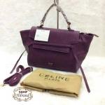 กระเป๋า Celine 11 นิ้ว สวยหรู แต่งสายหนังด้านหน้า ปากกระเป๋า ด้านในซิป พร้อมสายยาวถอดได้ และถุงผ้า