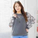 **พรีออเดอร์** เสื้้อแฟชั่นเกาหลีใหม่ แขนยาว ลูกไม้ สำหรับผู้หญิงไซส์ใหญ่ / **Preorder** New Korean Fashion Shirt Lace Long-Sleeve for Large Size Woman
