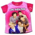 เสื้อ สีชมพู ลาย One Direction 6T