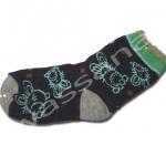 ถุงเท้า สีน้ำเงิน-เขียว ลายกระต่าย 12CM