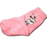 ถุงเท้า สีชมพูเข้ม ลาย Minnie Mouse 18CM