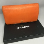 (SOLDOUT)Chanel Vintage Wallet สีส้มสดใส&#x1F34A