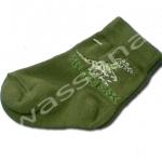 ถุงเท้า สีเขียว ลายไดโนเสาร์ T-Rex 9CM