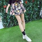 **พรีออเดอร์** กระโปรงแฟชั่นเกาหลี Brand Yozi Style ลายดอกไม้ สวย น่ารัก / **Preorder** Women Korean Hitz Brand Yozi Style Floral Pattern Skirt