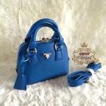 กระเป๋า Prada 8 นิ้ว ทรง Alma mini สวยเก๋น่ารัก ด้านในบุอย่างดี พร้อมสายยาวถอดได้ การ์ดและถุงผ้า