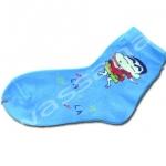 ถุงเท้า สีฟ้า ลายชินจัง 16CM