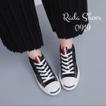 รองเท้าผ้าใบแฟชั่น สไตล์ converse jack purcell ข้อต่ำ สวยเก๋ ติดริบบิ้นสี เพื่อความเท่ห์ หลังสกีน ตัวอักษรเกาหลี พื้นยางหนายืดหยุ่น รุ่นฮิต ไม่มีเอาท์