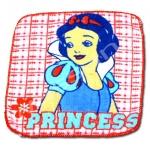 ผ้าเช็ดหน้า สีแดง ลาย Snow White