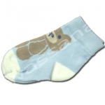 ถุงเท้า สีฟ้า ลายหมี 9CM