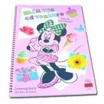 สมุดวาดเขียนสันห่วงใหญ่ สีชมพู ลาย Minnie Adventure