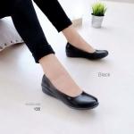 """รองเท้าคัทชู สีดำ หน้าเรียวสวย เก็บปลายเท้าไม่บีบกดหน้าเท้าะ หนังมันนิ่ม ได้ทรง ใส่สบาย เรียบหรูดูดี สูง 1"""""""