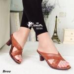 รองเท้าส้นสูง ทรงสวมหน้าไขว้ เรียบหรู เก็บหน้าเท้า ความสูง 2.5 นิ้ว น้ำหนักเบา ทรงนี้สวมใส่ได้ตลอด ใส่สบาย
