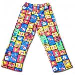 กางเกง สีแดง-น้ำเงิน ลาย Mario ตาราง 8T