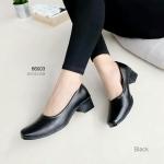 รองเท้าคัทชู ทรงสุภาพคลาสสิก ทรงหน้าตัดมุมโค้งมนไม่บีบเท้า หนัง pu เนียนสวย ด้านในบุซับนิ่ม ใส่สบายสุดๆ สูง 1.5 นิ้ว แมทสวยได้ทุกชุด สีดำ ครีม ขาว