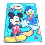 สมุดวาดเขียนสันห่วงใหญ่ สีฟ้า ลาย Mickey Mouse & Donald Duck