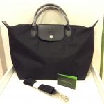 [SOLDOUT]Longchamp Le Pliage Neo Black size M - New ลองชอมรุ่นนีโอ มีสายสะพายยาว สีดำ มีการ์ด