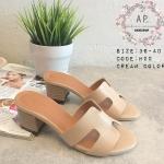 รองเท้าแฟชั่น style hermes แบบใหม่ชนช้อป best seller งานสวย เป๊ะ พื้นปั๊มแบรนด์ ตามรูป ส้นสูง 2 นิ้ว
