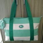 """กระเป๋า ทรง shopping สไตล์ Lacoste งานสวย จุเยอะ ขนาด ส.10"""" ก.18"""""""