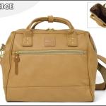 Large twoway Anello leather Shoulder Bag (สี Camel Beige)