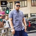 พรีออเดอร์ เสื้อเชิ้ตไซส์ XL - 6XL แฟชั่นเกาหลีสำหรับเสื้อผู้ชายไซส์ใหญ่ แขนสั้น เก๋ เท่ห์ - Preorder Large Size Men Size XL - 6XL Korean Hitz Short-sleeved Shirt