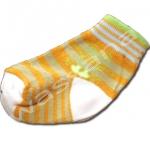 ถุงเท้า สีส้ม-เขียว-น้ำตาล ลายเสือ 8CM