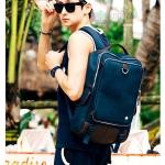 Kling / EXIT Premium Back pack(กระเป๋าเป้ สะพายหลัง) BA048 สีน้ำเงินเข้ม พร้อมส่ง สำเนา